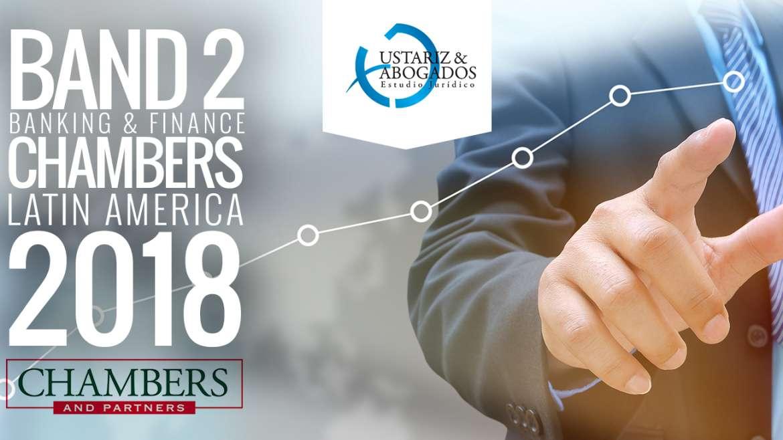 Ustáriz & Abogados firma destacadaen Banda 2por Chambers & Partners
