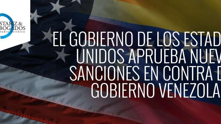 APRUEBAN NUEVAS SANCIONES EN CONTRA DEL GOBIERNO VENEZOLANO