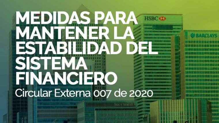 MEDIDAS PARA MANTENER LA ESTABILIDAD DEL SISTEMA FINANCIERO